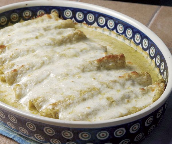Chicken Enchiladas with Creamy Tomatillo Sauce | Recipe