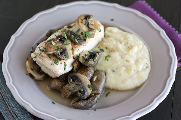 Braised Chicken with Mushrooms & oven baked Polenta by handleheat, via ...