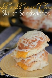 Hot Ham and Cheese Butter Dijon Skillet Sandwiches from Picky Palate ...
