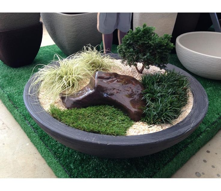 mini jardim zen  Fairy Garden  Pinterest