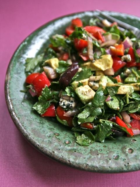 Chunky Chopped Salad with Fresh Herbs www.7b9b.com