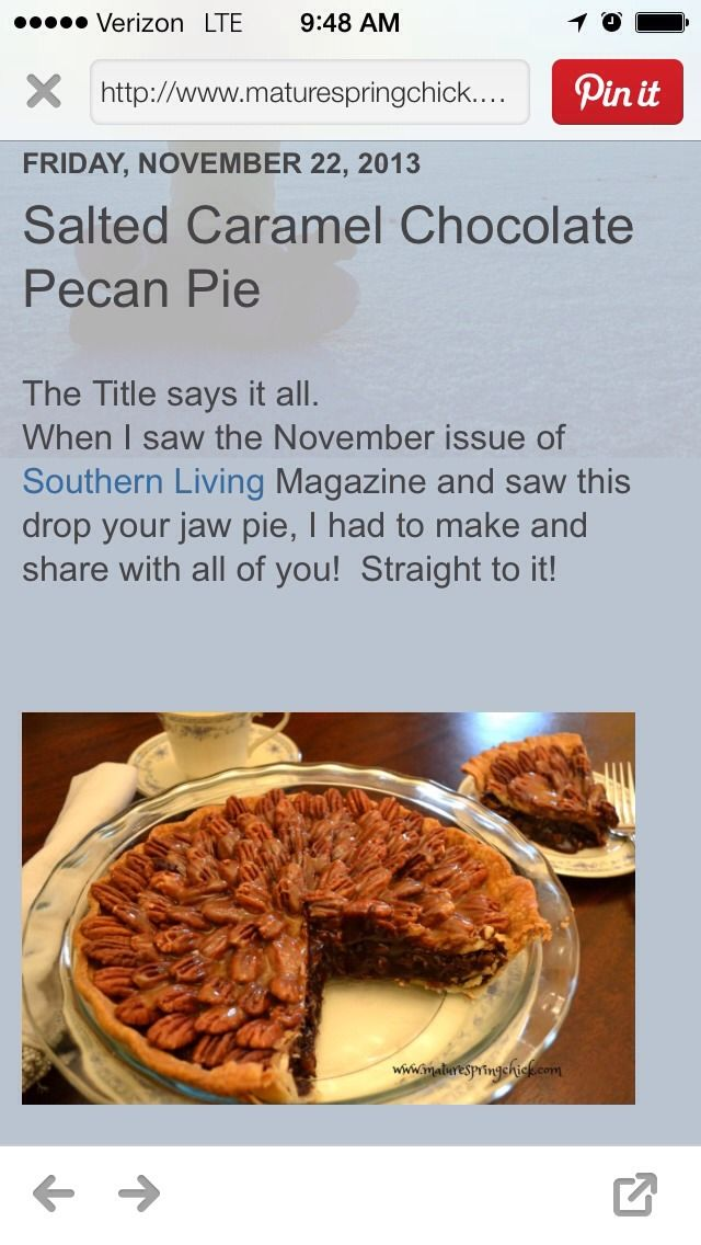 Salted Caramel Chocolate Pecan Pie! | URBAN, AND FREE STYLE ANYTHING ...