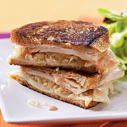 Turkey Reuben Panini by Cooking Light   Sandwiches and Sauces   Pinte ...