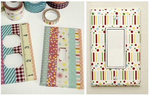 Decoracion Washi Tape ~ Decoraci?n washi tape tapa interruptores  For home Pinterest
