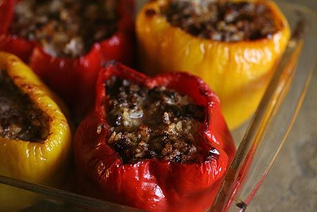 stuffed bell peppers recipe. Bell peppers, first steamed then stuffed ...