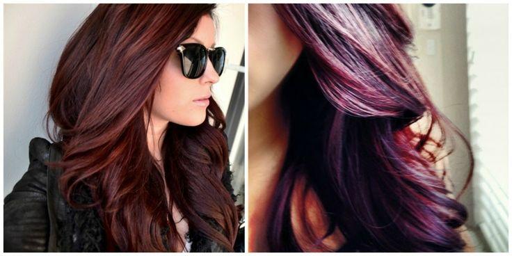 Dark red with blonde hairstyles