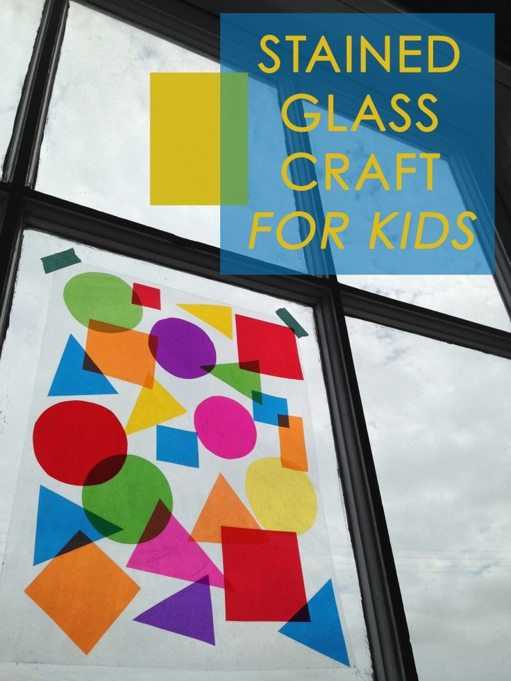 Make your own stained glass - An easy craft for kids!