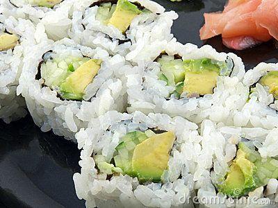 Cucumber Avocado Sushi | Recipes | Pinterest