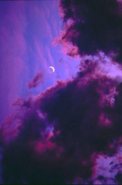 Purple midnight sky cloud moon | Wallpapers | Pinterest