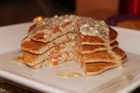 ... for something different in the morning-Carrot Cake Protein Pancakes