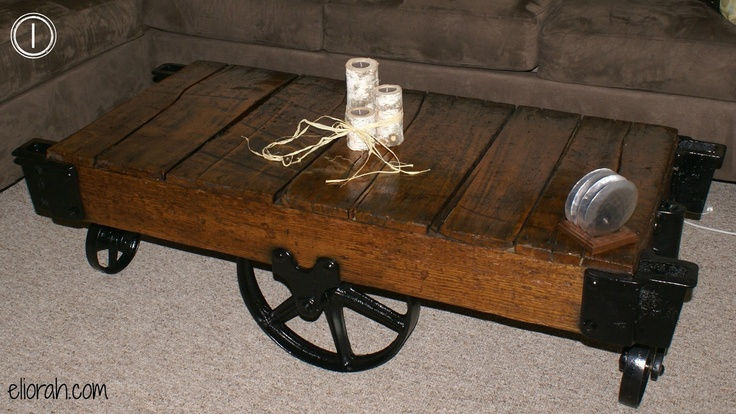 Industrial Railroad Cart Coffee Table Home Ideas Pinterest