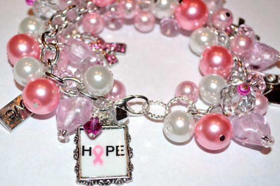 Breast cancer awareness charm bracelet breast cancer pinterest