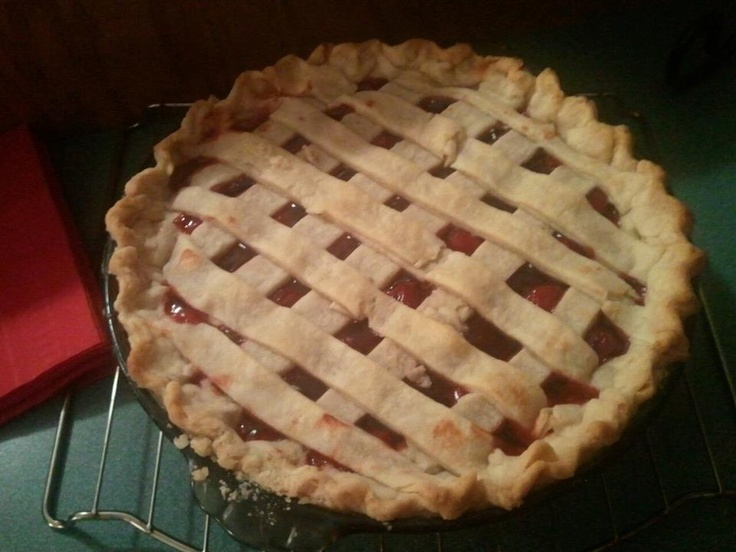 Oh my! Fresh baked Cherry Pie.