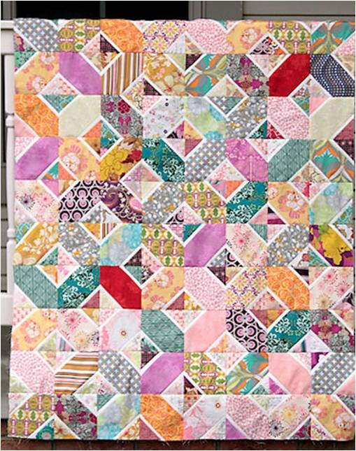 Quilt Inspiration: Free Pattern Day: Plus and 'X' quilts