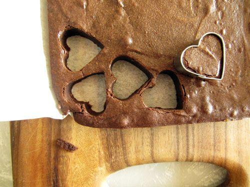 Brownie Hearts | mini-bites | Baking to do list: | Pinterest