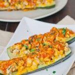Chicken Enchilada Stuffed Zucchini | Wine and Dine | Pinterest