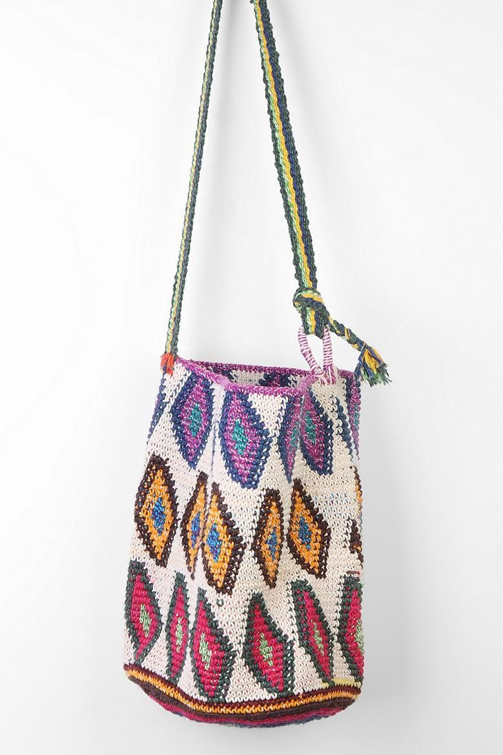 Crochet Bucket Bag : Hiptipico Crochet Bucket Bag #urbanoutfitters