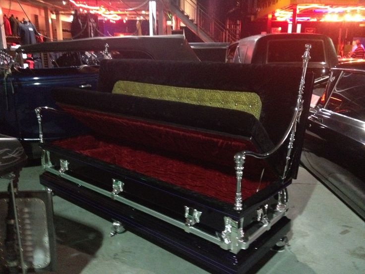 Coffin Sofa At Counts Kustoms In Vegas Gothic Hearse