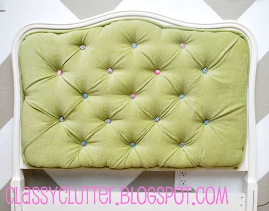 Upholstered Tufted Headboard Tutorial - wow
