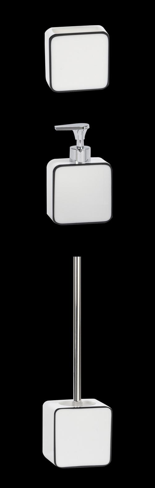 Accesorios De Baño Delta:Serie de accesorios de baño en color blanco