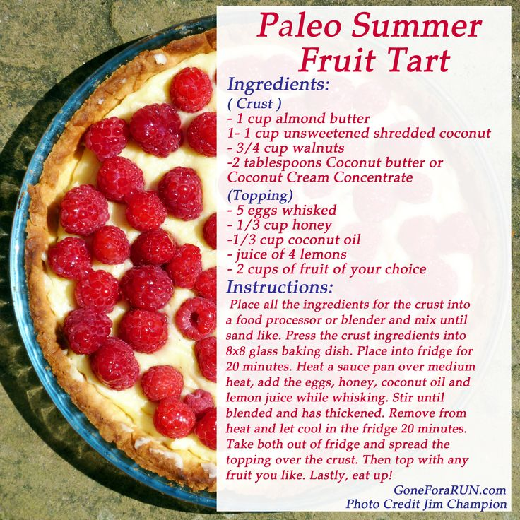 Paleo Fruit Tart Recipe- GoneForaRUN