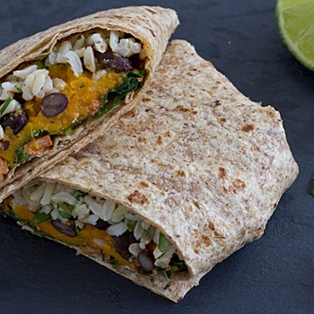 Sweet potato & kale wraps... perhaps I'll try them with the kale from...