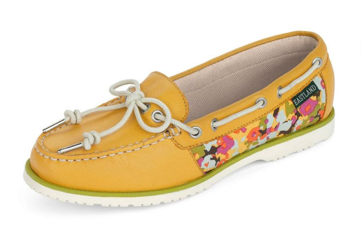 Women's Summerfield Boat Shoe Slip On - Yellow #eastlandshoe