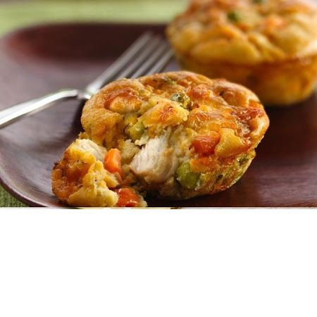 Impossibly Easy Mini Chicken Pot Pies | Recipes | Pinterest