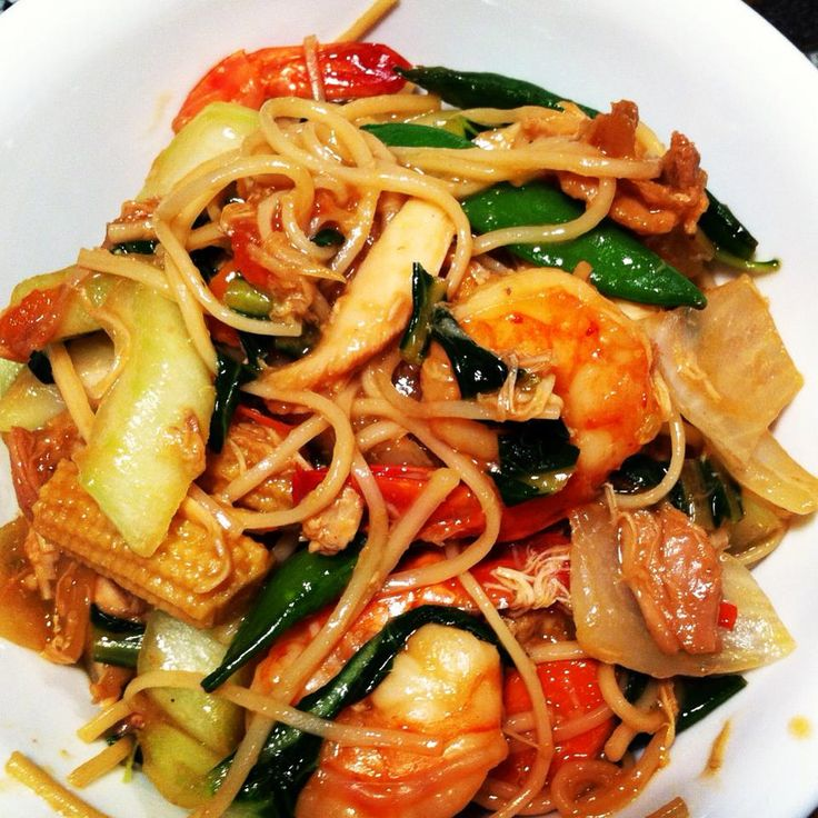 chicken and shrimp with Chinese Vegetables