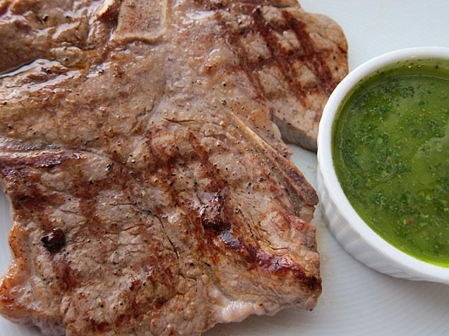 Skirt Steak With Hazelnut Picada And Wilted Escarole Recipe ...