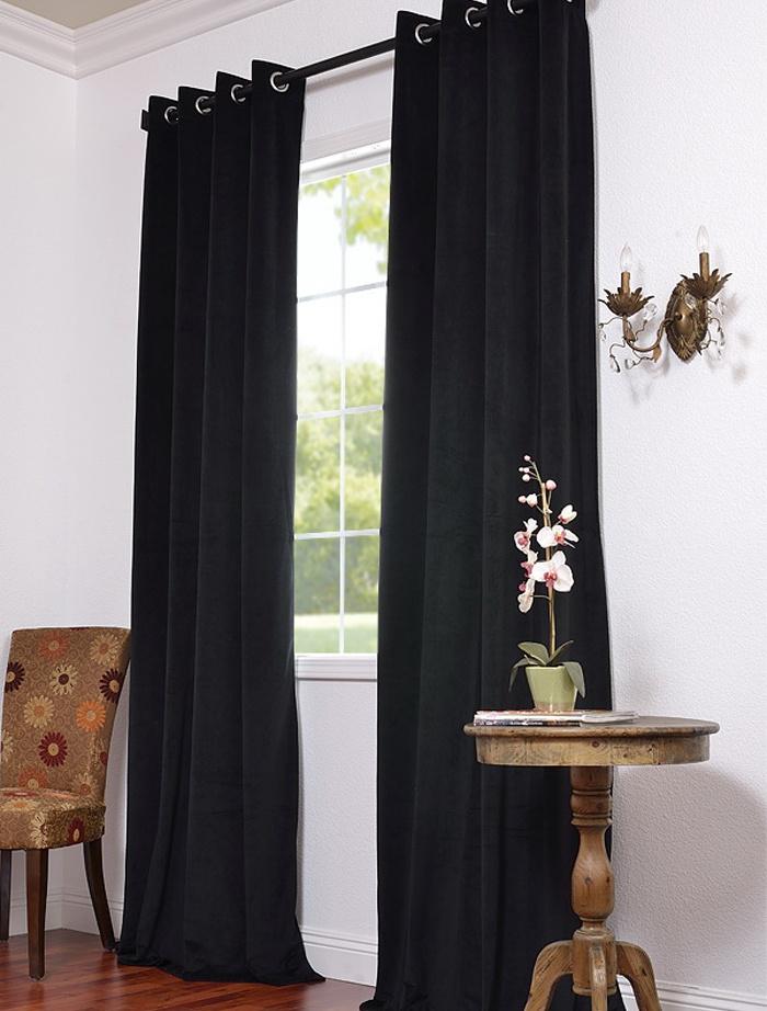black velvet curtains for small window in basement 59 panel