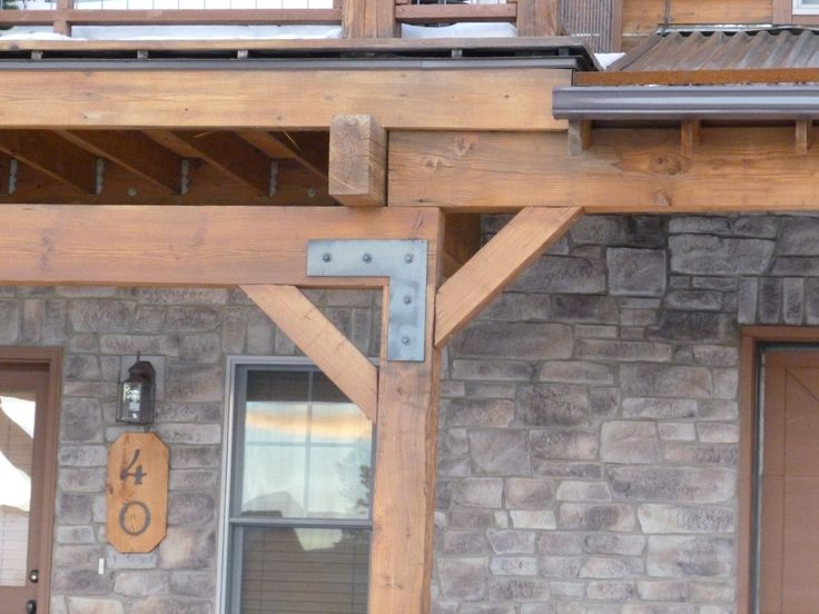 Steel Brackets For Porch Exterior Mountain Home Exterior Pinterest