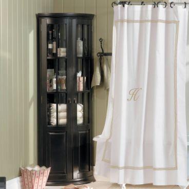 monogrammed shower curtain bathroom ideas pinterest