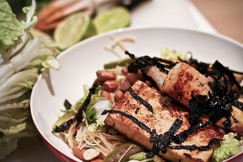 toasted sesame noodle salad w/nori-crusted tofu. I would braise much ...