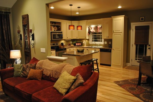 Living Making Our Open Floor Plan Cozy And Inviting Through Warm