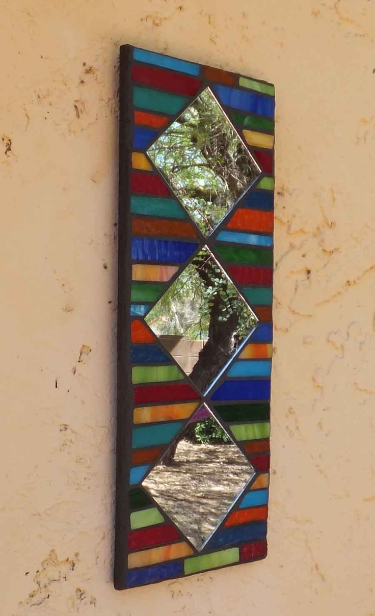 Mosaic stained glass mirror for Mosaic mirror