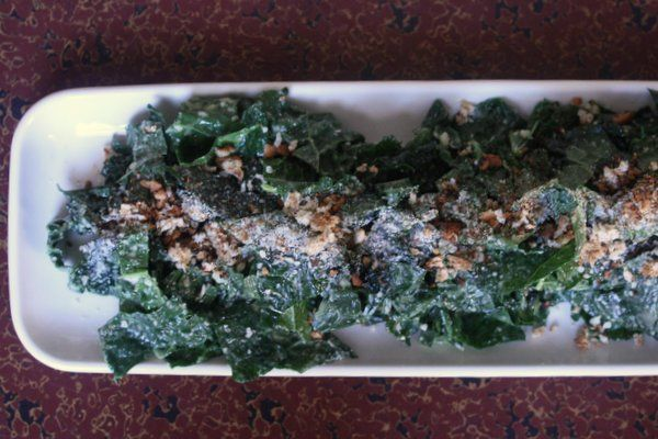 Kale Caesar Salad with Roasted Garlic Vinaigrette - Even if the kale ...