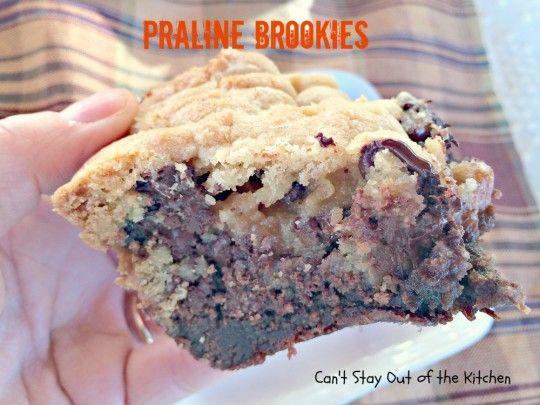 Praline Brookies - IMG_4008 | Sweets | Pinterest