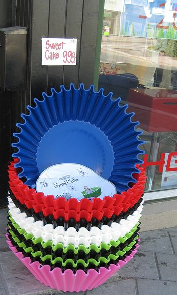SweetCake Uber Large Cupcake Liners. I want to make a koi pond out of one!