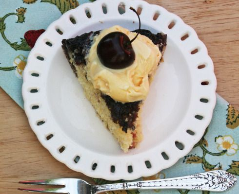 cherry-cornmeal upside-down cake | Hodgson Mill | Pinterest