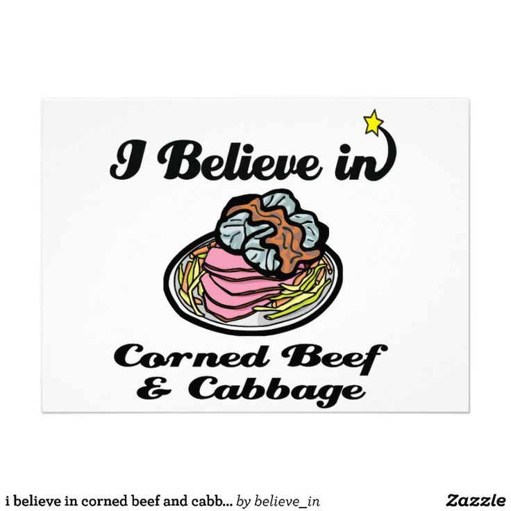 believe in corned beef and cabbage personalized invitation