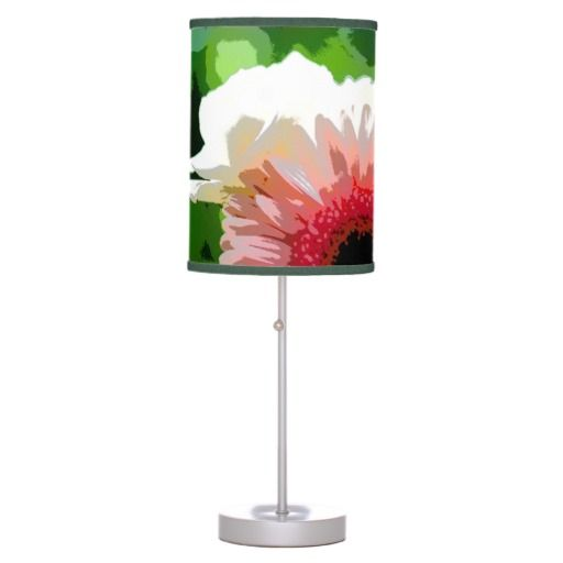 posterized flower lamp shade. Black Bedroom Furniture Sets. Home Design Ideas