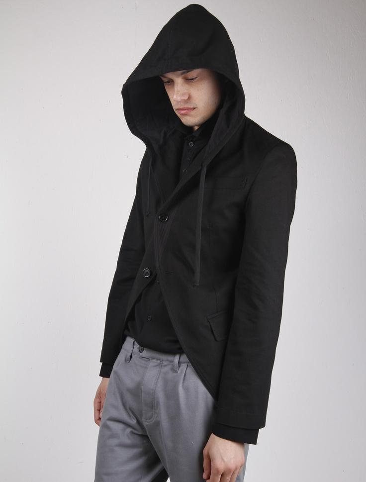 ANN DEMEULEMEESTER hoodie blazer | mens fashion and hair | Pinterest
