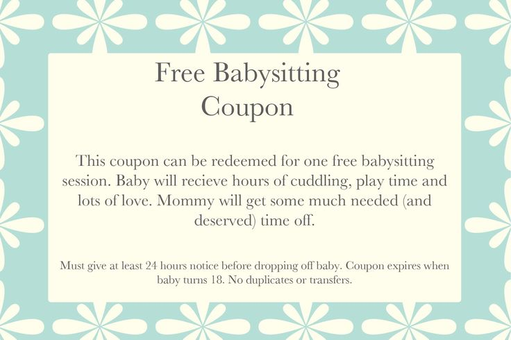 free babysitting coupon template MEMES