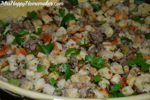 Easy Savory Sausage Stuffing | Recipes to Cook | Pinterest