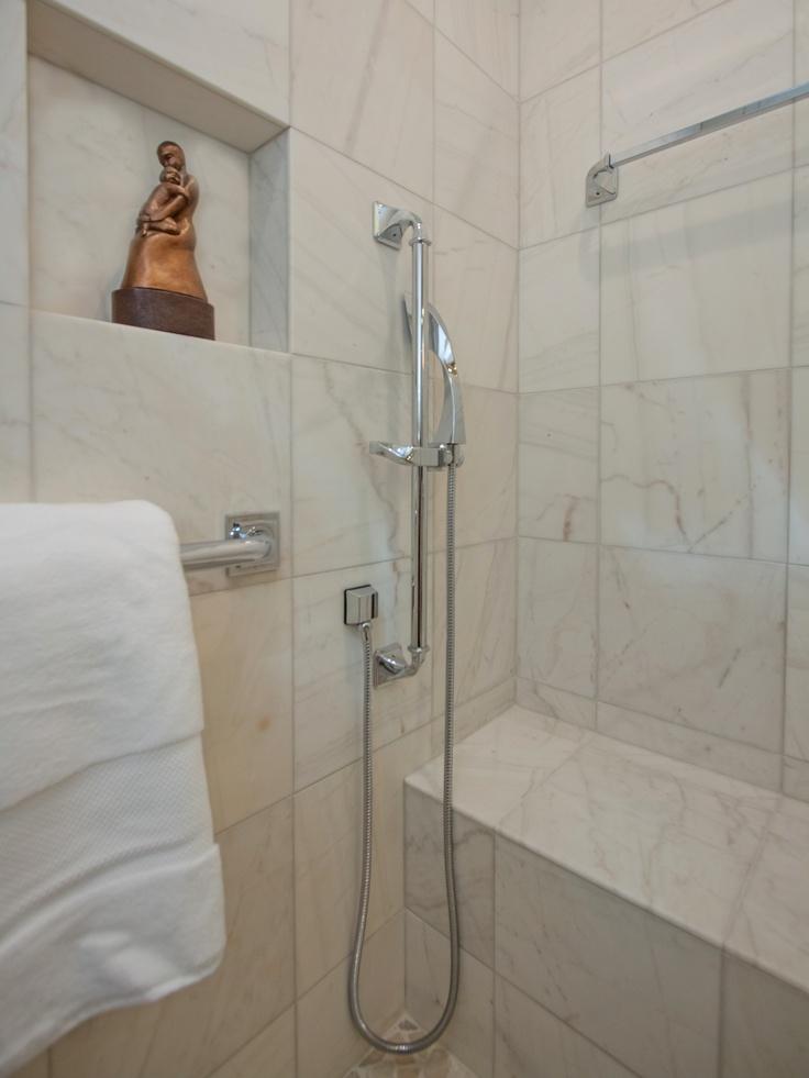 Hand-held shower head. | Bathrooms | Pinterest