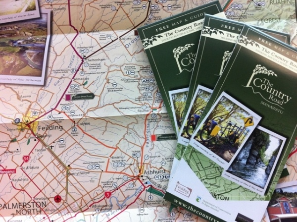 The free map and guide of The #Country Road.  So pretty with its polaroid images and handy tips.  Very handy for planning a weekend drive, and for those thinking of driving SH1 from #Taupo to #Wellington...think again!  #Palmerston North #NZ #newzealand #blog