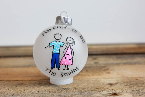 Daddy/Mommy/Parents To Be Christmas Ornament by BabyGeneration, $12.00