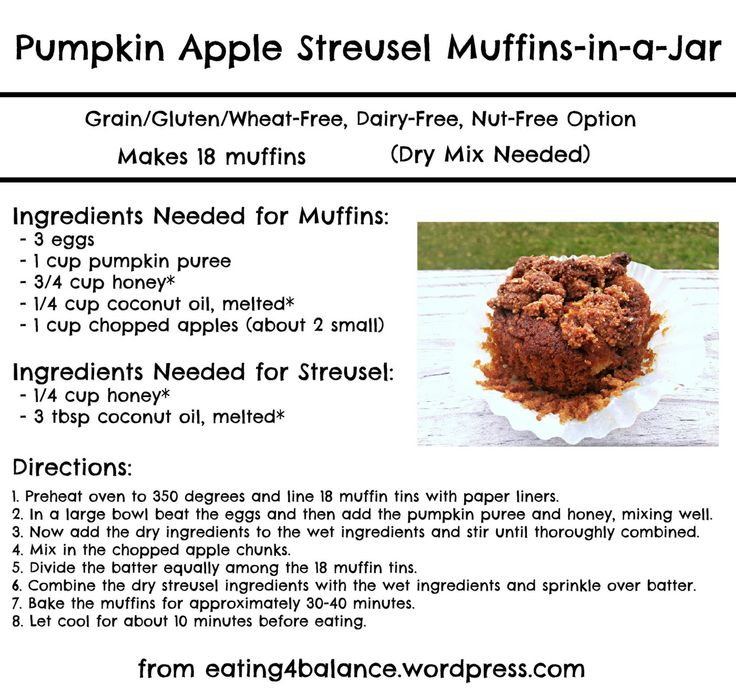 Pumpkin Apple Streusel Muffins-in-a-Jar | Pumpkin & Sweet potato | Pi ...