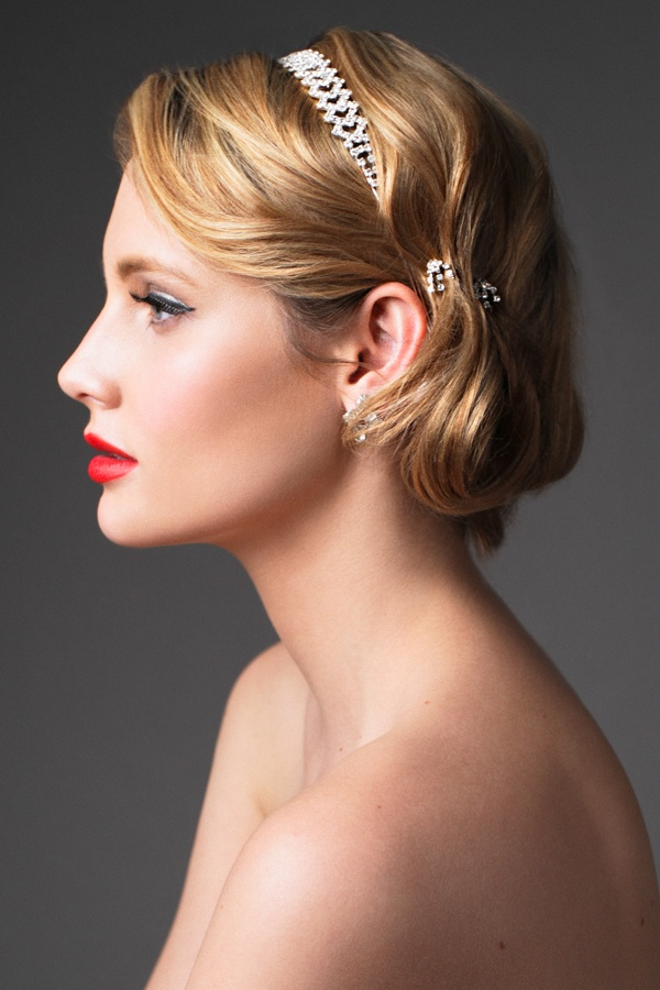 Bridal Makeup Hair Red Lips